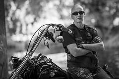 Großraumbiker 256 (Peter Goll thx for +8.000.000 views) Tags: 2018 fürth motorrad bayern deutschland de harleydavidson harley portrait mann man bw sw nikon nikkor85mm f14 biker motrerbike motorcycle d850