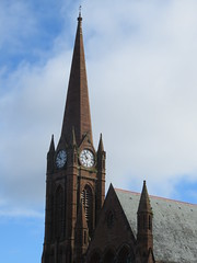 UK - Scotland - Ayrshire - Largs - Clark Memorial Spire and St Columba's Parish Church (JulesFoto) Tags: uk scotland ayrshire largs spire church