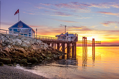 Sidney Pier from Glass Beach (kellypettit) Tags: sidneypier bc vancouverisland waterfront beach pier dock warf tide landscapephotography nature colours quiet beautifulscene mothernature peaceful alone canadaflag canada westcoast 2018 godscountry