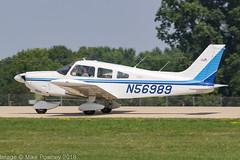 N56989 - 1973 build Piper PA-28-180 Cherokee, arriving on Runway 36L at Oshkosh during Airventure 2018 (egcc) Tags: 287405040 airventure airventure2018 cherokee eaa kosh kenny lightroom n56989 osh oshkosh pa28 pa28180 piper