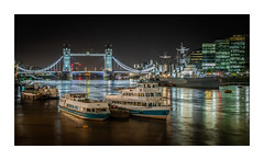 River of Light (Dave Fieldhouse Photography) Tags: riverthames thames london towerbridge bridge hmsbelfast charter boats boat ship lights illumination offices buildings landscape architecture reflections landmark night nighttime dark longexposure fuji fujifilm fujixt2 wwwdavefieldhousephotographycom city cityscape urban capital uk england tourism towerpier appicoftheweek