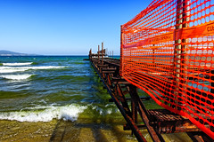 The Construction Of The Sea (Alfred Grupstra) Tags: sea beach coastline water summer sky pier outdoors blue harbor travel nature vacations architecture scenics traveldestinations tourism landscape sunlight famousplace bulgaria