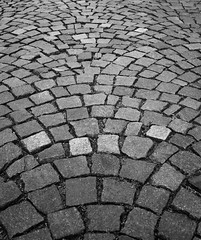 Cobbles (natures-pencil) Tags: art monochrome blackandwhite cobbles road stone fanpattern abstract setts