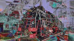 BaikalReise 75k (wos---art) Tags: bildschichtung russland transsibirische eisenbahn historisch ausgemustert stillgelegt schrottplatz ausgestellt präsentiert maschinengeschichte