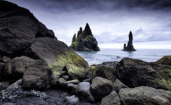 Reynisflara Up Close (Leon Sammartino) Tags: iceland vik reynisflara sea seaside beach rocks fineart fujifilm