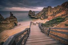 Down to the beach (Sizun Eye) Tags: lagos beach camilobeach portugal algarve stairs cliffs sea sand evening sizuneye summer cloudscape nikond750 nikon1424mmf28 1424mm