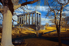 Calton Hill Columns, Edinburgh Scotland (Infrared Photography- False Colors) ​ (jc reyes) Tags: travels ir infrared infraredmaster digitalinfrared infraredimages infraredworld infraredphoto irfilter irphotography colorinfrared falsecolors invisiblelight creativeir creativeiramericas creativeireurope iginfrared photography infraredcamera infraredlandscape kolarivision jawdroppingshots epiccaptures igworld nikon nikonphotography nikkor edinburgh scotland england ​