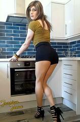 Kitchen Curves (jessicajane9) Tags: tg crossdresser tgurl crossdress transvestite feminization cd trans crossdressing tranny m2f transgender xdress tv feminised tgirl