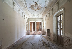 Villa Ragno (Sean M Richardson) Tags: abandoned villa architecture ornate details ceiling light shadows canon exploring decay derelict urbex ruins sunlight digital classic