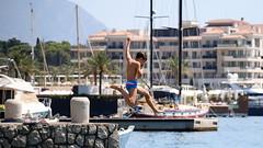 Jump for Joy :) (superhic) Tags: jump sea water boats summer