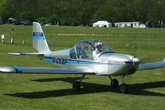 G-CEBP (IndiaEcho) Tags: gcebp team eurostar ev97 popham eghp basingstoke hampshire england airport airfield civil light general aviation aircraft aeroplane microlight fly in 2018 canon eos 1000d