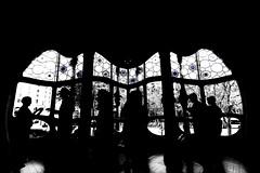 Barcelona - Casa Batlló (arin.hakopian) Tags: casa gaudi window house monochrome mono bw weis white black schwarz schwarzweis casabatlló barcelona blackwhite monochrom