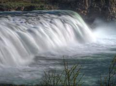 Faxi, Faxifoss, Vatnsleysufoss (joiseyshowaa) Tags: tungufljót tourist travel holiday neutral density filter tripod water fall ledge flow green glacial glacer river fish ladder salmon