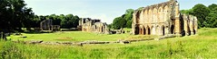Panoramic of the abbey ruins from the south (eucharisto deo) Tags: furness abbey lakes lake lakes18 district cumbria lancashire monastery monastic ruins ruin dissolution henry viii cistercian panoramic panorama