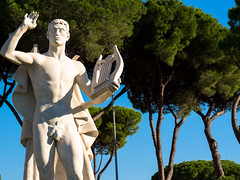 Foro Italico statue (max832) Tags: 2018 pontrdellamusico street rosso italy italia micro43 estate rome palazzi summer cielo blu flaminio sreetphotography olympus landscape omd old buildings panorama mosaico foroitalico paese colorato roma blue panoramica mft ritratto città girls em10iii red composed city 60mm28macro colore colors colorful