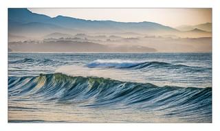 Crépuscule sur la côte basque