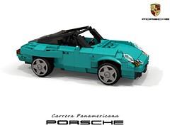 Porsche Carrera Panamericana Concept - 1989 (lego911) Tags: carrera porsche panamericana concept 1989 1980s convertible dunebuggy dune buggy offroad 80th birthday present ferdinand boxer german germany auto car moc model miniland lego lego911 ldd render cad povray foitsop