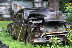 Bad boy in the rain (adamkmyers) Tags: classiccars abandonedcars rust