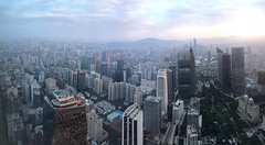Guangzhou, Guangdong, China (Thierry Hoppe) Tags: guangzhou china guangdong ifc view panorama cityscape skyscraper skyline morning iphone early light pearl river delta south buildings canton