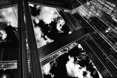 To pass over the clouds... (JM@MC) Tags: sky clouds copenhaguen copenhague architecture reflexion blackandwhite urban
