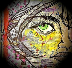 Sheila (franck.sastre) Tags: face art painting picture streetart eyes lips colors
