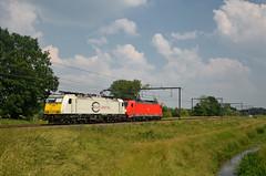 186 319 and 338 @ Schulen (Wesley van Drongelen) Tags: ecr eurocargorail euro cargo rail db deutsche bahn dbc baureihe br série serie type reeks class 186 br186 traxx schulen train trein zug