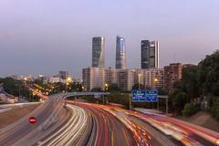 4 Torres Larga Expocion (PabloJAG) Tags: madrid torres m30 vertical fotografia urbana hdr largaexposición canon 1200d
