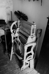 I Bought the Wife a New Drier - She is not happy (WorcesterBarry) Tags: blackwhite bnw blackandwhite candid england lovebw love humour happiness funny fun anger monochrome ~monochrome~ age blackcountrymuseumdudley