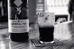 Topa Topa Brewery, Imperial Stout Still Life (screenwriterii) Tags: beer ilford hp5 film stout topatopa craftbeer