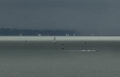 The keen spirit (Ian@NZFlickr) Tags: yacht yachts race auckland rain storm nz grey