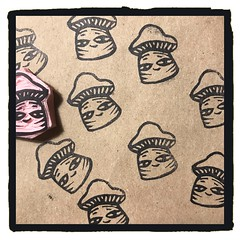 Little dime sized mushroom stamp! 🍄🍄 Never throw away your scraps! #rubberstamp #make #made #show #brianlapsley #craft #handcarved #media #art (Brian Lapsley) Tags: share show love handcarved made make craft rubberstamp art