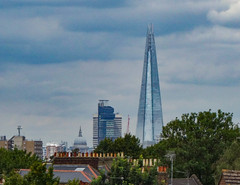 St Paul's & The Shard from Nunhead (London Less Travelled) Tags: uk unitedkingdom england britain london southwark southlondon nunhead view skyline city trees urban shard stpauls cathedral