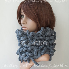 Knit Cowl Grey Sale Sacrf Unisex Octopus Cowl Scarf Textured Unusual Unique / Ladies Neckwarmer / Designer Cowl / Fantasy/ Knitted Tube Scarf (tianache) Tags: scarf knit knitted handmade medusa etsy gift giftides octopus chunky cowl wrap cozy tan sale sacrf unisex textured unusual unique ladies neckwarmer designer fantasy tube decadent steampunk noir dark art craft gorgone