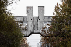 Elevated passageway - Printing works. (Stefano Perego Photography) Tags: stepegphotography stefano perego building concrete modernism modernist brutalism brutalist modern soviet architecture design central asia