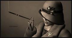 Incognito (Moxxie Kalinakova) Tags: 20s retro vintage kalinakova moxxie smoking elegant class classy sepia