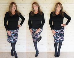 Floral Skirt (Katie Lewis TV) Tags: crossdresser crossdressing cd transvestite tv transgender tranny
