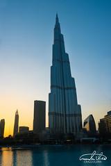 Burj Khalifa (Theo Crazzolara) Tags: dubai vereinigtearabischeemirate emirates unitedarabemirates vae uae city skyline sunset romance romantic vacation sightseeing highlight burjkhalifa burj khalifa travel traveling backpacking journey dubaiphotography