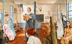 Sterling, Illinois Mural - Teacher Sarah Worthington (Cragin Spring) Tags: sterling sterlingil sterlingillinois illinois il midwest unitedstates usa unitedstatesofamerica sarahworthington school teacher mural schoolhouse classroom