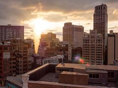 P8290529 (elsuperbob) Tags: detroit michigan zdeck downtowndetroit skyscrapers skyline sunset davidwhitneybuilding brodericktower