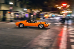 City Hopping (robertsautomotive.photos) Tags: miura monterey car cars sped speed speedy orange lamborghini lambo night midnight city citylights lights popups pop montereycarweek fast fastcar