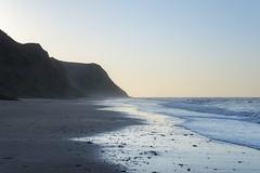 Cattersty sands, North Yorkshire (Keartona) Tags: cattersty sands northyorkshire yorkshire coast beach skinningrove dusk blue sky clear idyllic tranquil beautiful nature sand shore sea england cliffs horizon walk spring