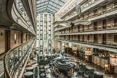 Hotel Lobby (HSS) (KPPG) Tags: processed sliderssunday hss hannover airport hotel maritim lobby empfangshalle architektur architecture atrium