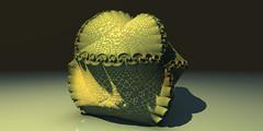 The green shells (eXalk) Tags: art abstract design digital dream deep black geometric green organic ornament shellfishes ducks detail render reflection 3d fantasy fractal fragmentarium