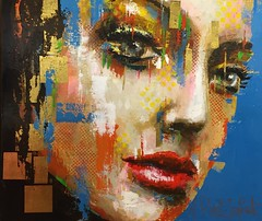 A Painting of a Female Face from the Carré D'Artistes Art Gallery in Philadelphia PA (buddhadog) Tags: carrédartistes artgallery iphone6 artwork painting 100vu 100