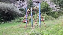 Tarditional Children Swing against the Internet (Jojorei) Tags: schaukel swing children kinder spass outdoors spielen spiel play playground internet rusty rost