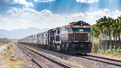 Long Journey Ahead (Dheeraj Clickr Rao) Tags: indianrailways ir india train transportation track railway railroad railfanning westernghats wdg4 gmemd generalmotors eos550d canoneos550d clouds sky hills highdynamicrange hdr