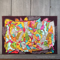 Doodles (JoMo (peaceofpi)) Tags: drawing doodle abstract zen acrylic paper ink peaceofpi canada pen scribble mindfulness