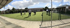 Pensby B.C. Bowling Green (Kay Bea Chisholm) Tags: panorama afternoonleague over55s grass crowngreenbowls poultonbowlsclub wirral bowlinggreen pensby