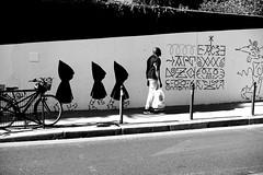 The followed man (pascalcolin1) Tags: paris ménilmontant homme man mur wall photoderue streetview urbanarte noiretblanc blackandwhite photopascalcolin 50mm canon50mm canon