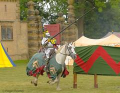 KNIGHT in ARMOUR, MEDIEVAL JOUST, BOLSOVER CASTLE_DSC_1585_LR_2.5 (Roger Perriss) Tags: bolsovercastle horses joust d750 armour horse tilt lance tents grass castle